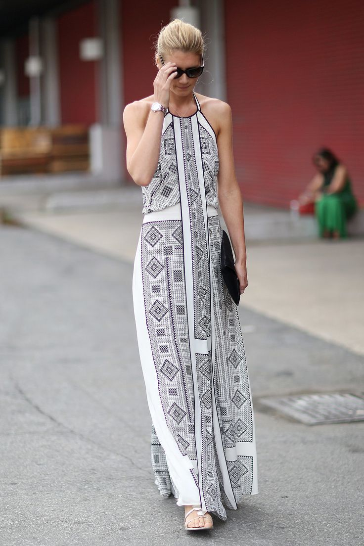 flats-and-patterned-white-maxi-dress